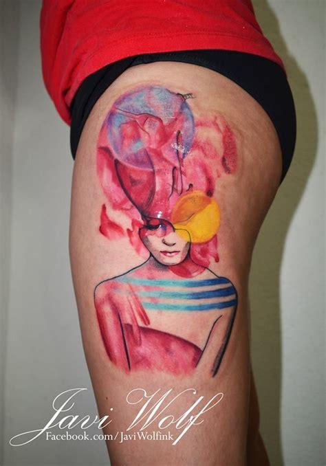 bright pink 2 tattooed by javi wolf designed by jenny liz