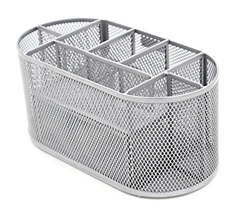 Silver Mesh Desk Accessories Easypag Mesh Office Desk Accessories Organizer 9 Components With Drawer Silver