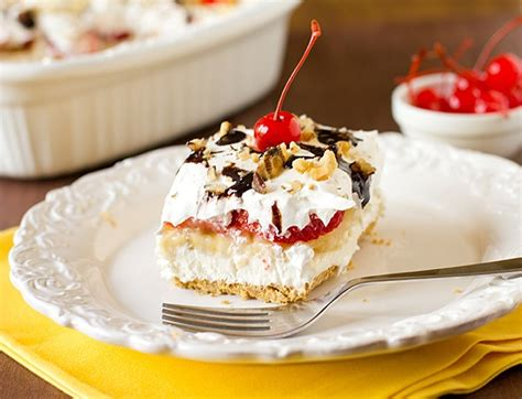 No Bake Banana Split Dessert No Bake Banana Split Dessertapplepins