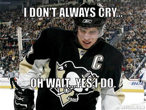 Sidney Crosby Memes - sidney crosby cry the sidney cry fest has officially