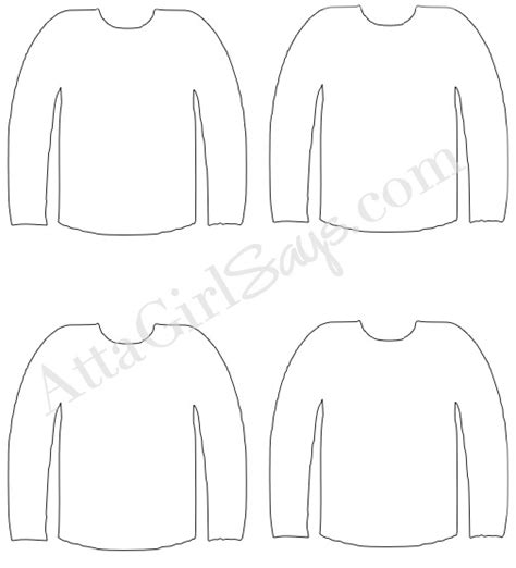 sweater template free printable sweater template just b cause
