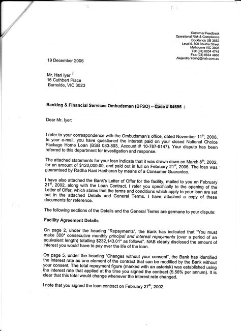 Bank Letter Of Dispute Westpac Banking Corporation S Interest Fraud