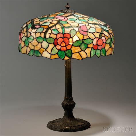 Mosaic Glass Table L by Large Mosaic Glass Table L Attributed To Chicago Mosaic