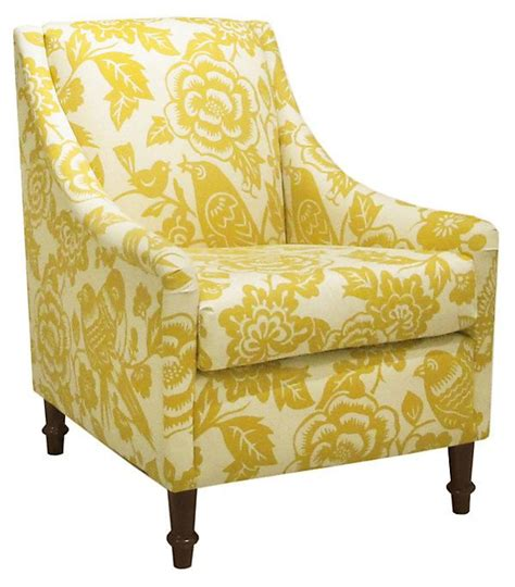 yellow patterned armchair holmes floral armchair yellow white