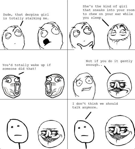 Derp Meme Comic - le creepy stalker derp le rage comics