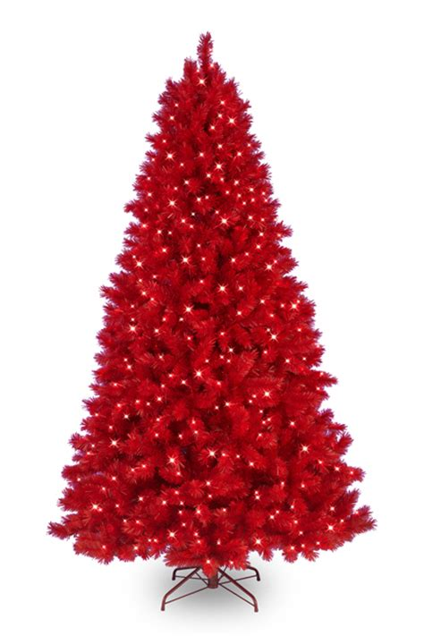 funky artificial christmas trees in vibrant colors