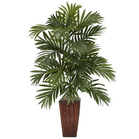 silk plants 32 inch areca palm in bamboo vase 6675