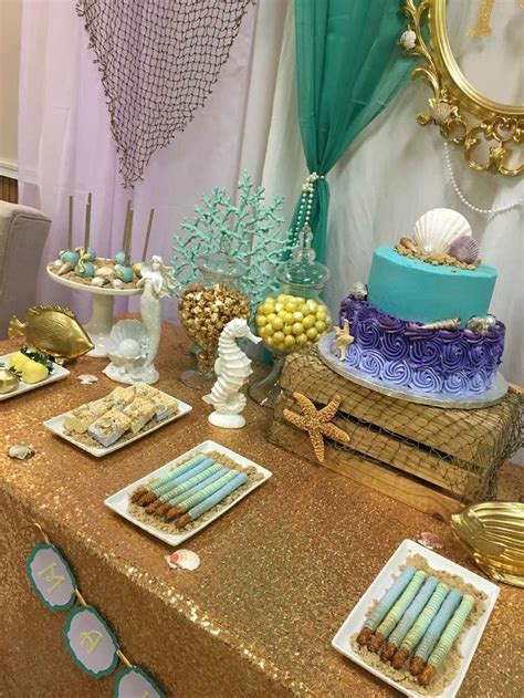 themed baby shower decorations best 25 mermaid baby showers ideas on mermaid