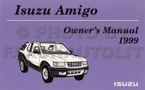 car owners manuals for sale 1999 isuzu amigo parental controls 1999 isuzu amigo owners manual original oem owner user guide book ebay