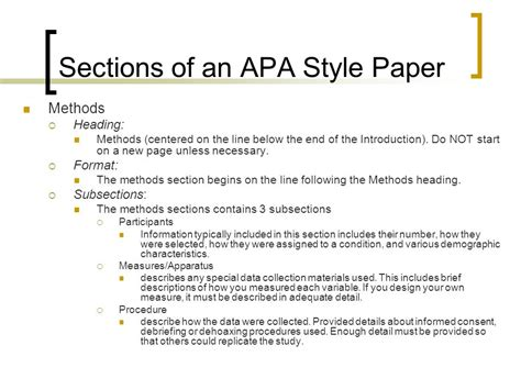 apa style methods section writing an apa style research paper ppt video online