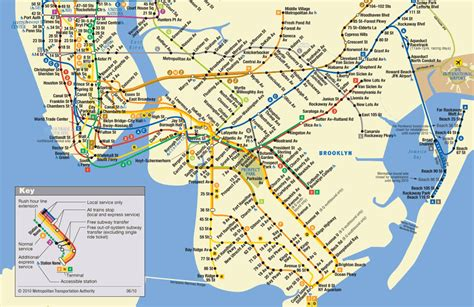 Subway Map Mta by New York Transportation Map Mta Subway Map Queens Mta