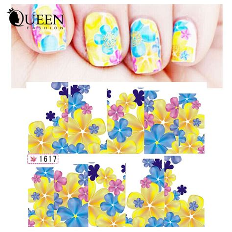 Floral Water Transfer Nail Stickers Stiker Kuku aliexpress buy nail transfer water decals 6designs 10sheets flowers nail stickers