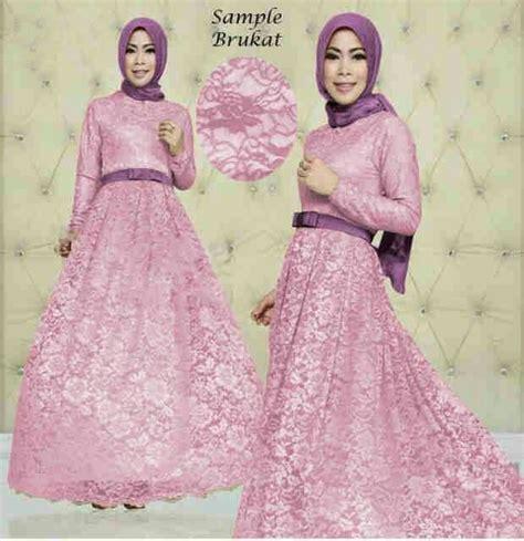 D 028 Vshape Dress Dress Wanita baju gamis modern terbaru gamis pesta brokat modern