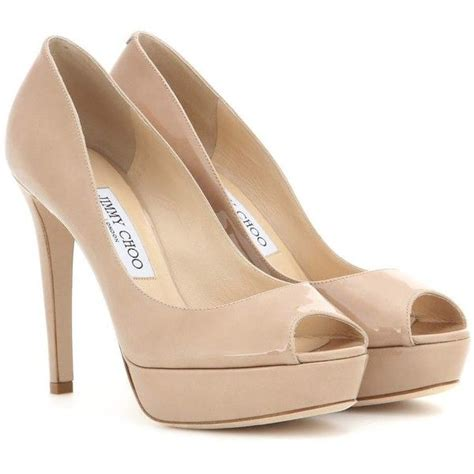 Shoes Of The Day Miss Beige Patent Peep Toe Pumps by 1000 Images About My Polyvore Finds On