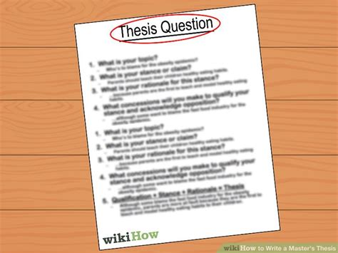 local thesis abstract how to write a master s thesis with pictures wikihow