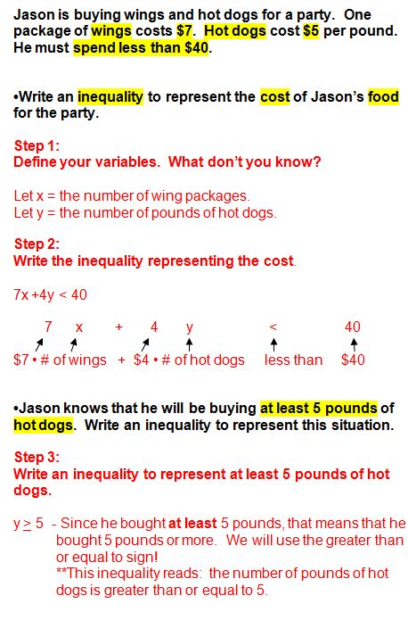 printable inequalities quiz linear inequalities word problems worksheet worksheets