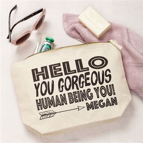 Hello Make Up Pouch hello you personalised make up pouch by tillyanna notonthehighstreet