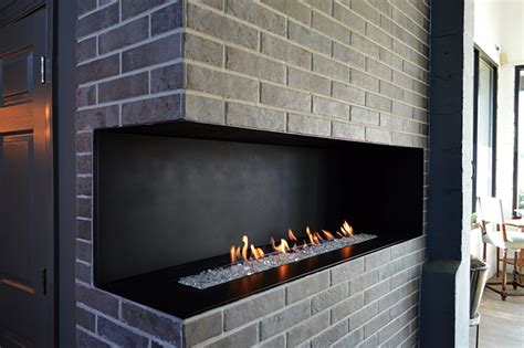 European Homes Fireplaces by H Series Modern Vent Free Open Corner Gas Fireplace