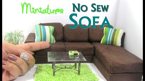 diy chaise lounge sofa diy no sew modern sectional sofa chaise lounge dollhouse