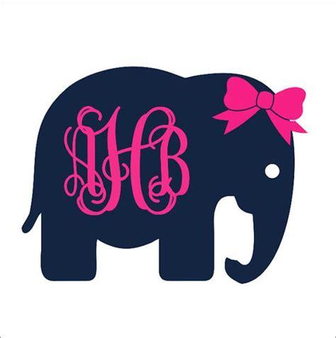 bow window decals elephant monogram with bow car decal car decal preppy car