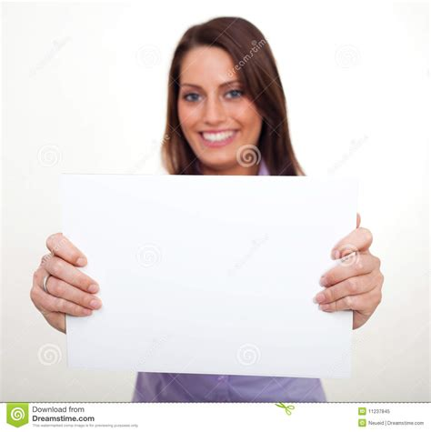 How To Make Paper Holding - a holding an empty paper stock image image