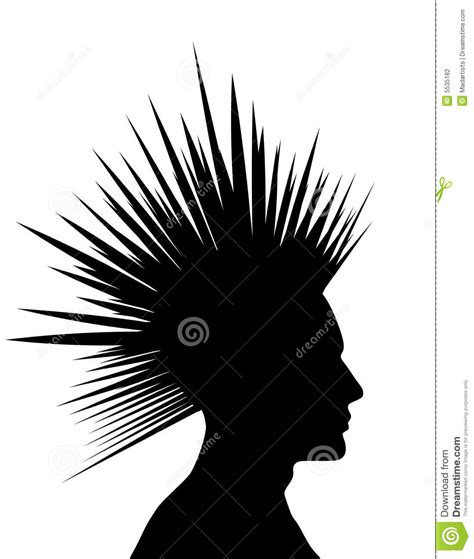 mohawk outline designs mohawk black punk silhouette stock photography image