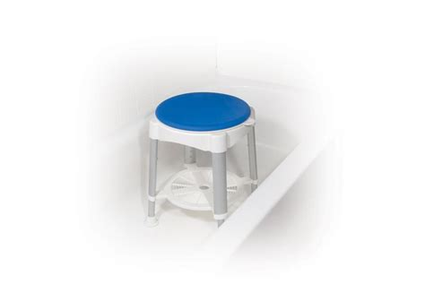 White Parts In Stool drive bath stool with padded rotating