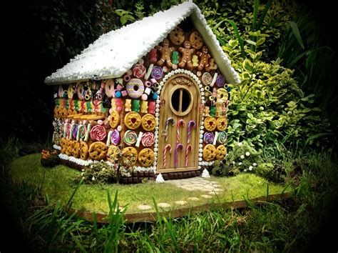 The Gingerbread House In The Miniature Clay Witch Gingerbread Dolls House Hansel And