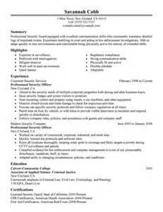 security officer resume bullet points - Resume Bullet Points