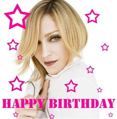 Madonna Happy Birthday Card