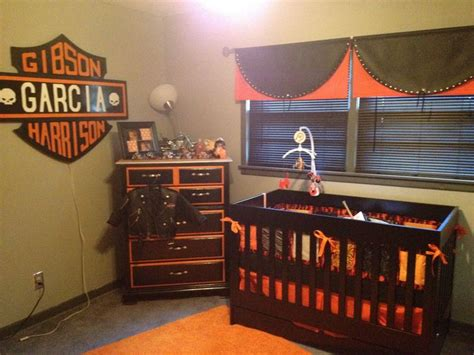 harley davidson bedroom ideas harley baby room what you can t see is the tool bench we