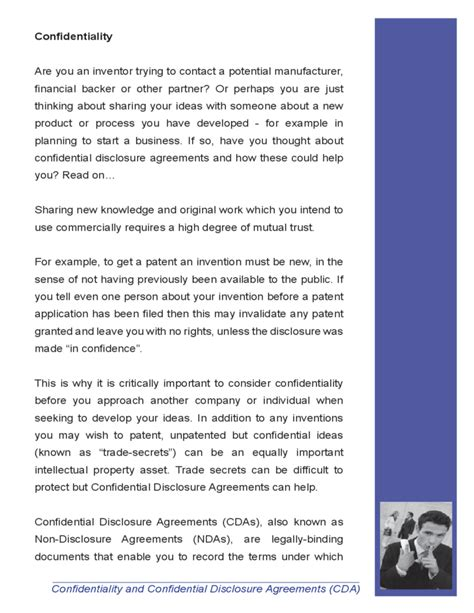 cda agreement template confidentiality and confidential disclosure agreement free