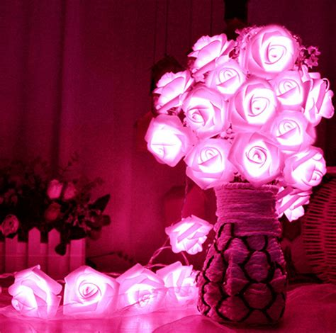 flower lights for bedroom 20 led lighting flower string lights