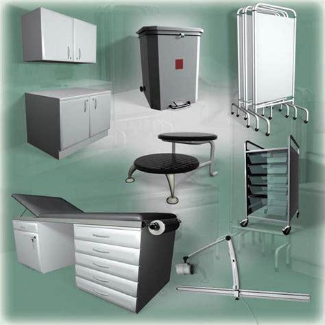 medical couches medical furniture set 3d model hum3d