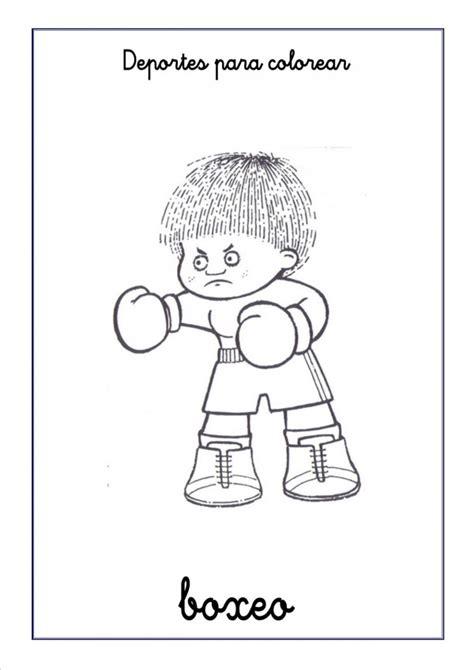 imagenes de boxeo  colorear boxeadores peleando