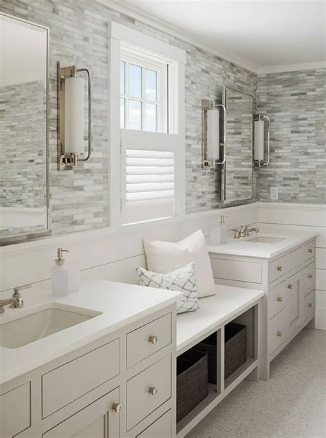 bathroom ideas tiled walls calming master bathroom with shiplap and tile walls a
