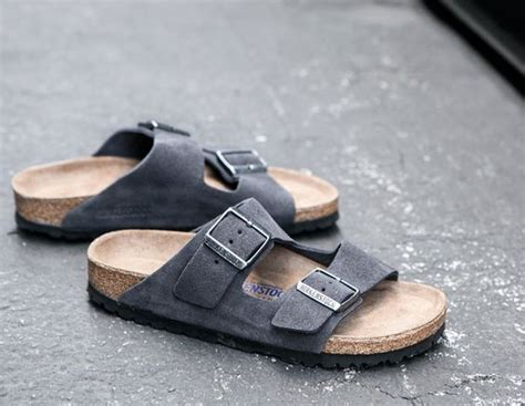 De Velvet Grey birkenstock arizona s in velvet grey clothing