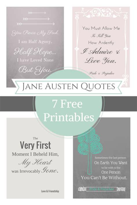 printable quotes quotes jane austen free printable quotes