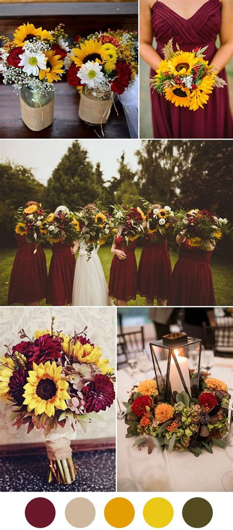 beautiful wedding color ideas  shades  red wine