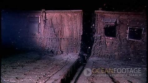 Titanic Wreck Interior by Footage The Titanic Wreck Underwater
