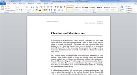 operation and maintenance manual template operation and maintenance manual template