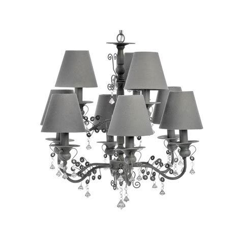 Chandelier With Shades And Crystals Ten L Chandelier With Shades And Crystals Forever Furnishings Home And Garden