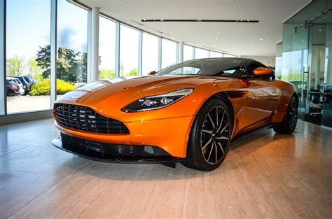 orange aston aston martin db11 touches down in calgary gtspirit