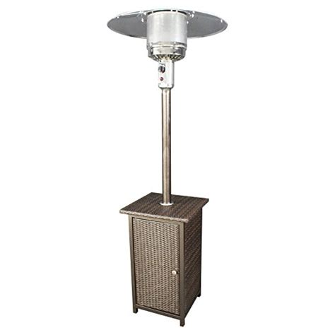 Homcomfort Gh Liquid Propane Gas Patio Heater With Wicker Stand Up Propane Patio Heater