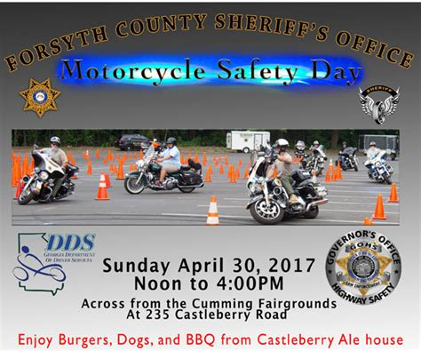 forsyth county sheriff s office motorcycle safety day