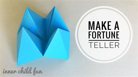 Make A Paper Fortune Teller - how to make a paper fortune teller