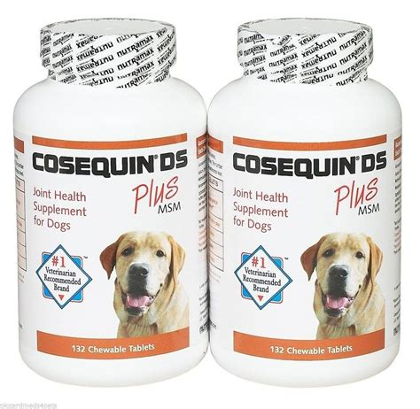 joint health for dogs cosequin ds 264ct joint health for dogs strength chewable tablet plus msm ebay