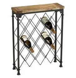 Repurpose Metal Wine Rack by Hudson Rustic Iron Reclaimed Wood Wine Rack Kathy Kuo Home