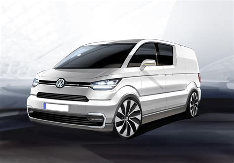 volkswagen concept van volkswagen e co motion electric delivery van at geneva