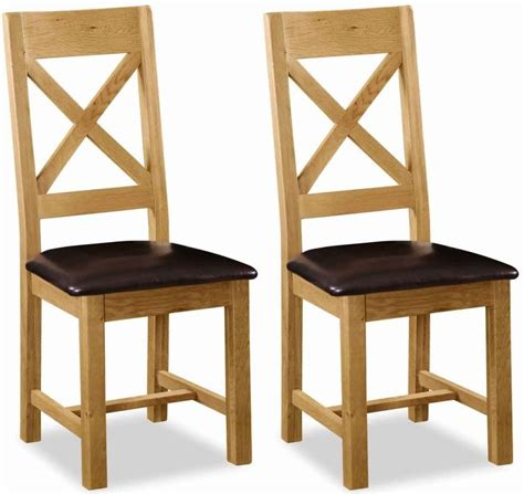 Dining Room Chairs With Leather Seats Global Home Salisbury Oak Dining Chair Cross Back With